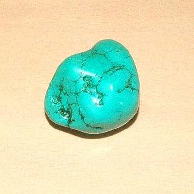 Tqp 017d turquoise brute 50gr 40x30x25mm polie bleue lithotherapie reiki