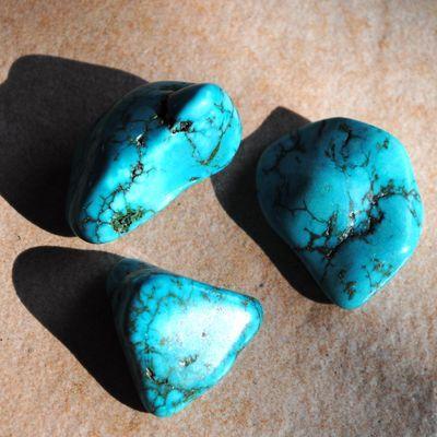 Tqp 038b lot 3xturquoise 53gr pierres brute polies achat vente