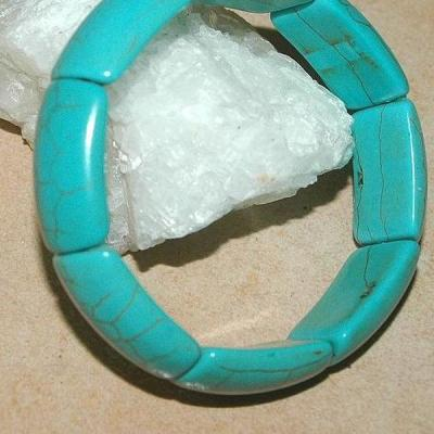 Tqr 005a bracelet turquoise woolite bijou ethnique achat vente