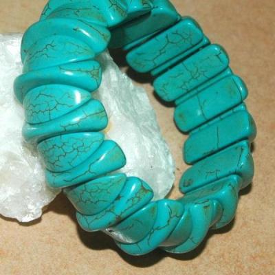 Tqr 008a bracelet turquoise woolite bijou ethnique achat vente