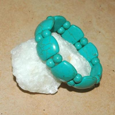 Tqr 010b bracelet turquoise woolite bijou ethnique achat vente