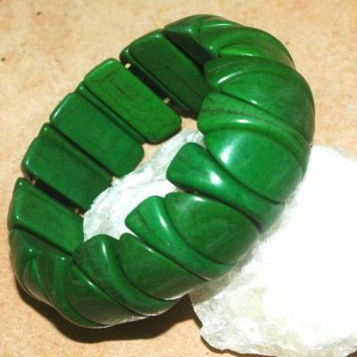 Tqr 013a bracelet turquoise woolite bijou ethnique achat vente