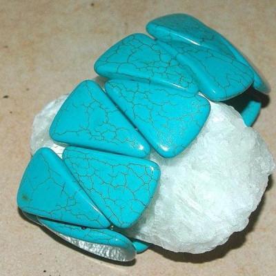 Tqr 016a bracelet turquoise woolite bijou ethnique achat vente