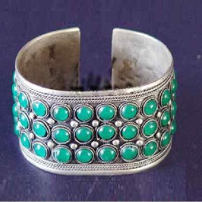 Tqt 001a bracelet torque turquoise argent ethnique 925 achat vente bijoux