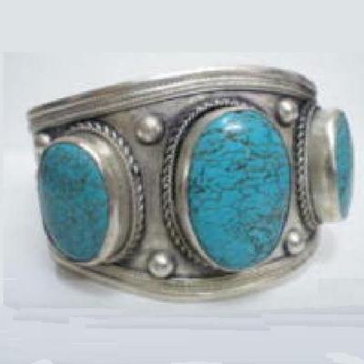 Tqt 002a bracelet torque turquoise argent ethnique 925 achat vente bijoux