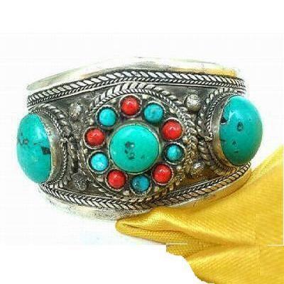 Tqt 005a bracelet torque turquoise argent ethnique 925 achat vente bijoux