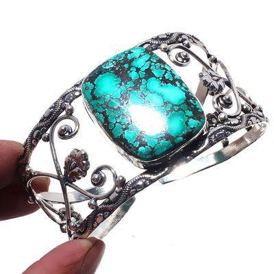 Tqt 009a bracelet torque turquoise 44gr 45mm 30x40mm argent ethnique achat vente bijoux