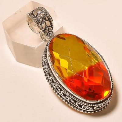 Trm 023a pendentif pendant tourmaline ametrine achat vente bijou monture argent 925