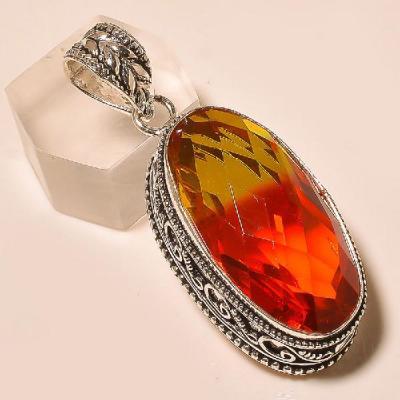 Trm 024a pendentif pendant tourmaline ametrine achat vente bijou monture argent 925