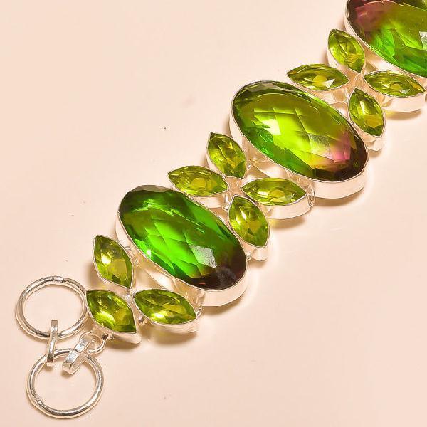 Trm 025b bracelet tourmaline peridot achat vente bijou monture argent 925
