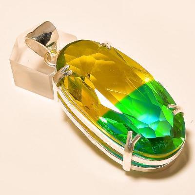 Trm 027a pendentif pendant tourmaline ametrine achat vente bijou monture argent 925