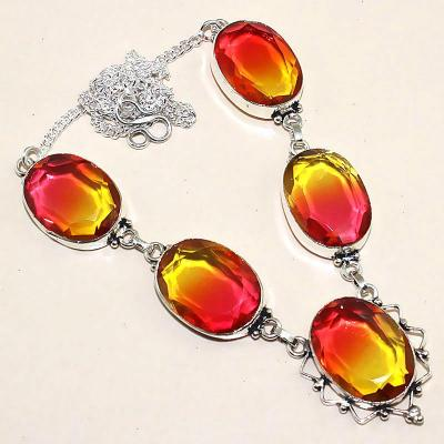 Trm 034a collier parure tourmaline rouge or achat vente mineraux 1
