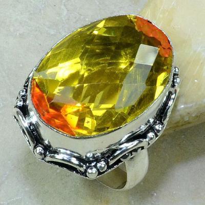 Trm 039a bague t61 lemontrine citron orange argent 925 bijoux achat vente