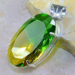 Trm 079b pendentif tourmaline ametrine pierre taillee achat vente bijou argent 925