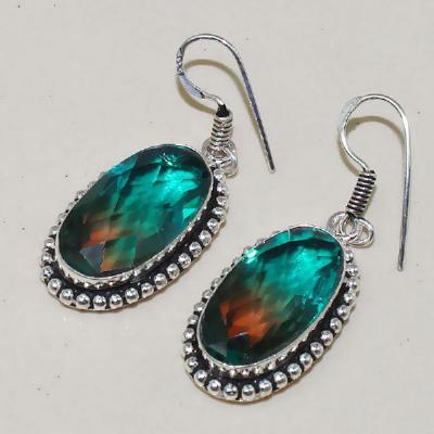 Trm 083a boucles pendants oreilles tourmaline achat vente bijou monture argent 925