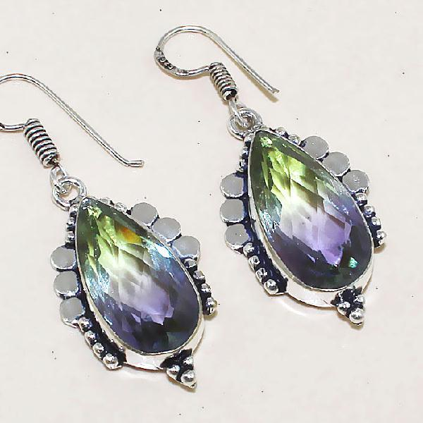 Trm 086c boucles pendants oreilles tourmaline achat vente bijou monture argent 925