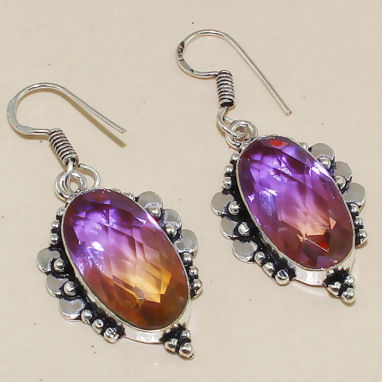 Trm 087a boucles pendants oreilles tourmaline achat vente bijou monture argent 925