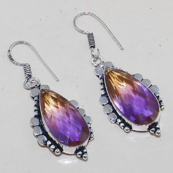 Trm 088a boucles pendants oreilles tourmaline achat vente bijou monture argent 925