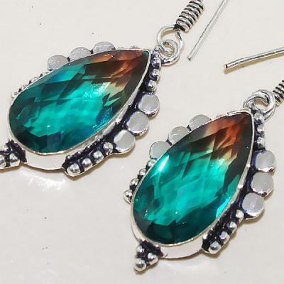 Trm 105c boucles pendants oreilles tourmaline achat vente bijou monture argent 925