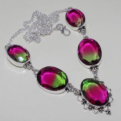 Trm 112a collier sautoir parure tourmaline rouge achat vente argent 925 bijoux