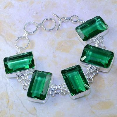 Trm 122a bracelet tourmaline verte pierre taillee achat vente bijou argent 925