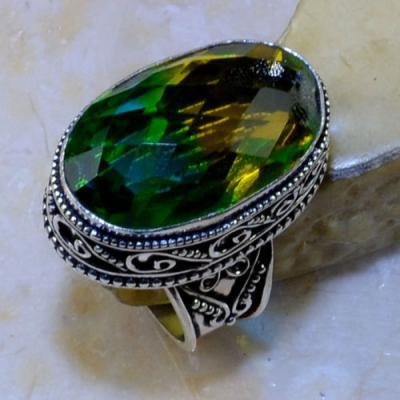 Trm 135a bague t60 tourmaline or verte bijoux medievale argent 925 vente achat