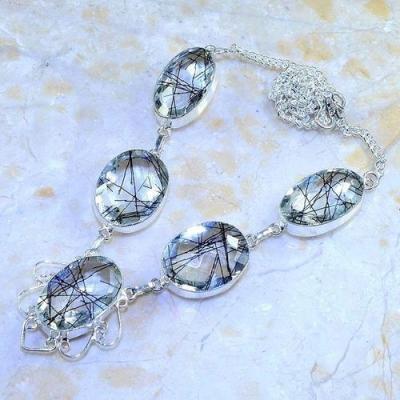 Trm 178d collier parure sautoir tourmaline quartz rutile cristal achat vente bijou argent 925 1 1