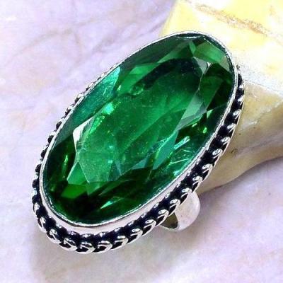 Trm 192a bague t59 tourmaline verte quartz bijoux renaissance medievale argent 925 vente achat 1 1