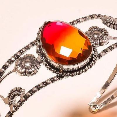 Trm 199c bracelet torque tourmaline rose or achat vente bijou argent 925 1 1