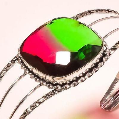 Trm 200c bracelet torque tourmaline rose vert achat vente bijou argent 925 1 1