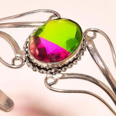Trm 201c bracelet torque tourmaline rose vert achat vente bijou argent 925 1 1