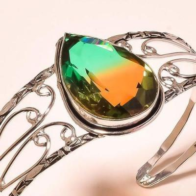 Trm 221c bracelet torque tourmaline ametrine achat vente bijou argent 925 1