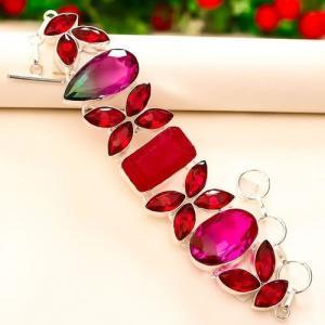 Trm 246a bracelet tourmaline grenat rubis achat vente bijou argent 925 1