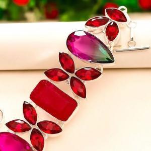 Trm 246b bracelet tourmaline grenat rubis achat vente bijou argent 925 1