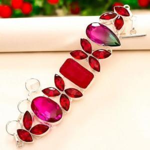 Trm 246d bracelet tourmaline grenat rubis achat vente bijou argent 925 1