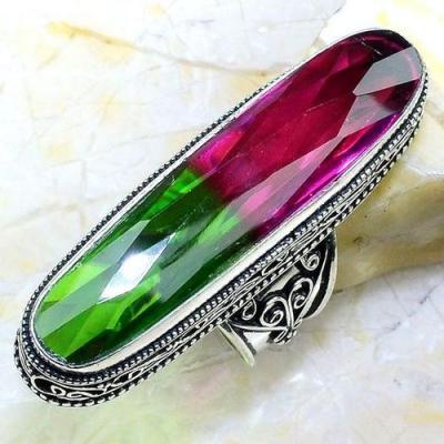 Trm 256a bague t60 medievale tourmaline chevaliere quartz bijou argent 925 achat vente