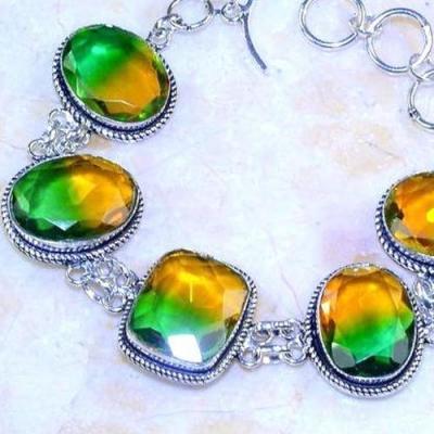 Trm 267b bracelet 16x22mm tourmaline achat vente bijou argent 925