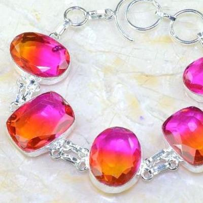 Trm 268b bracelet 16x22mm tourmaline achat vente bijou argent 925
