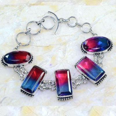 Trm 276a bracelet 10x20mm tourmaline achat vente bijou argent 925