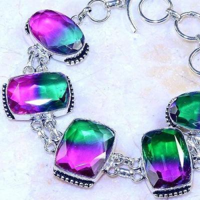 Trm 277b bracelet 10x20mm tourmaline achat vente bijou argent 925