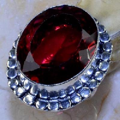 Trm 284a bague chevaliere tourmaline rouge t52 20x25mm achat vente bijou argent 925