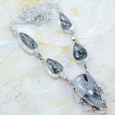 Trm 285a collier tourmaline quartz parure sautoir lithotherapie reiki achat vente bijou argent 925