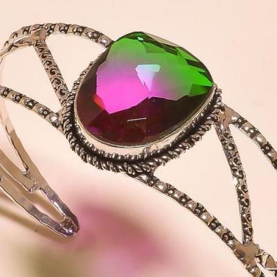 Trm 286c bracelet torque tourmaline verte mauve ametrine achat vente bijou argent 925
