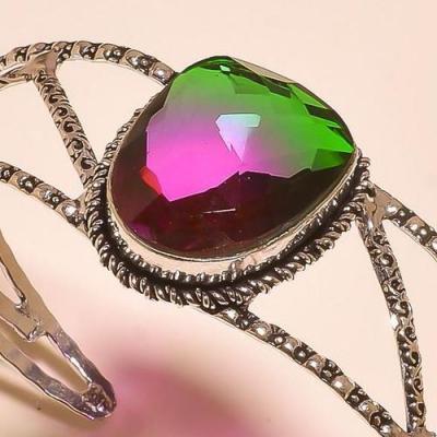 Trm 289b bracelet torque tourmaline verte mauve ametrine achat vente bijou argent 925