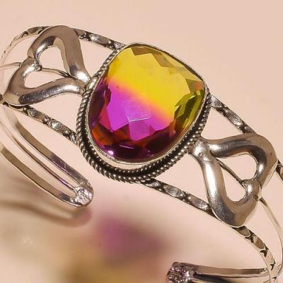 Trm 290b bracelet torque tourmaline ametrine achat vente bijou argent 925