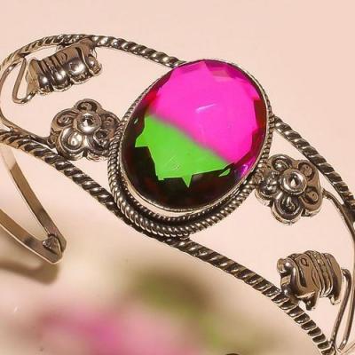 Trm 291b bracelet torque tourmaline verte mauve ametrine achat vente bijou argent 925