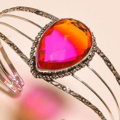 Trm 294b bracelet torque tourmaline rose orange ametrine achat vente bijou argent 925