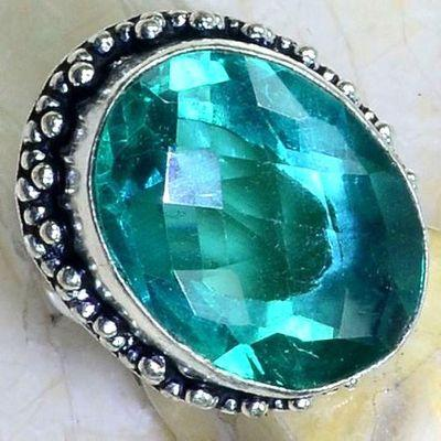 Trm 307c bague chevaliere t57 11gr tourmaline 25x18 verte pierre achat vente bijou argent 925 1