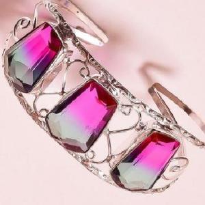 Trm 342d bracelet torque 34gr 18x26mm tourmaline bleu violet achat vente bijoux argent