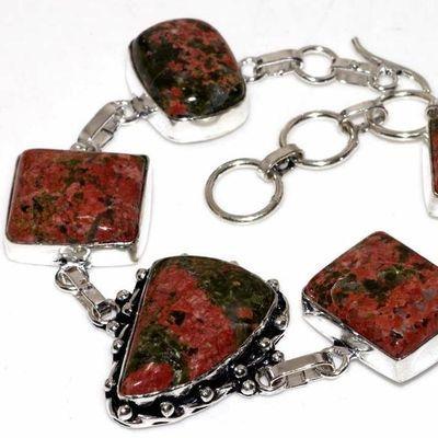 Un 006b bracelet unakite 32gr achat vente bijou mineraux lithotherapie argent 925